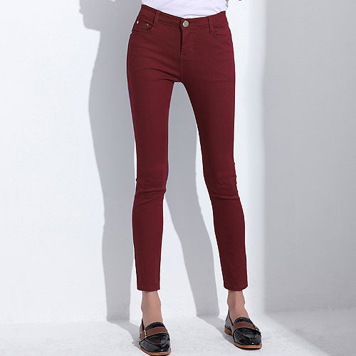 Women's Candy Pants Pencil Trousers 2018 Spring Fall Khaki Stretch Pants For Women Slim Ladies Jean Trousers Female 1010 - Forefront Outfitters Inc.