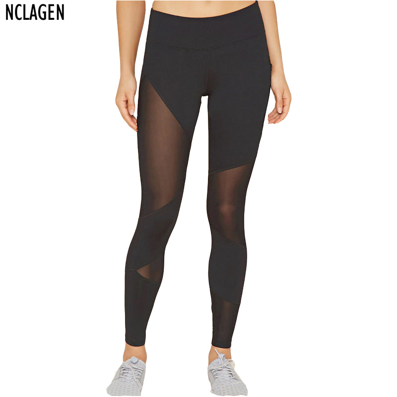 Women Mesh Black Transparent Comfortable Pant Sexy Slim Fit Leggins Stirrup Workout Leggings For Women Activewear - Forefront Outfitters Inc.