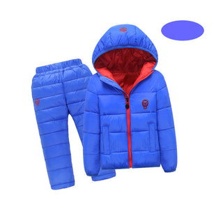 Children Set Boys Girls Clothing Sets Winter Hooded Down Jackets+Trousers Waterproof Thick Warm Tracksuit Kids Clothing Sets Hot