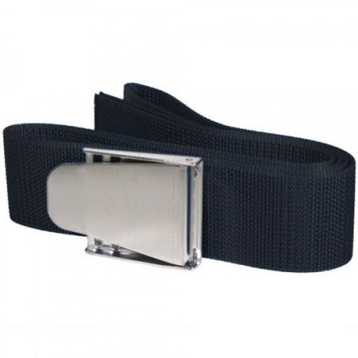 "Trident 58"" Weight Belt With Stainless Steel Buckle - Black"