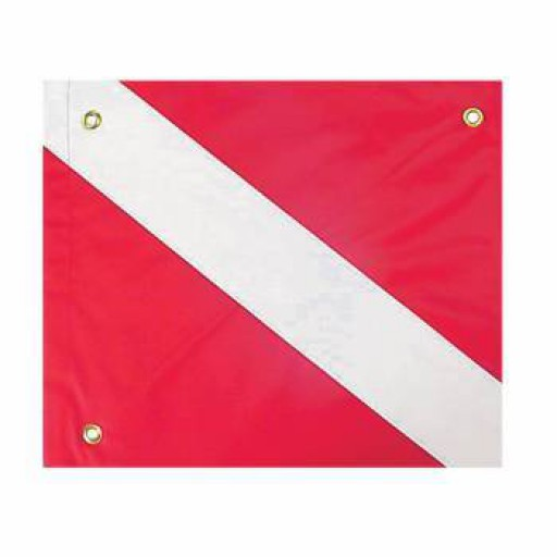 Trident Nylon Dive Flag with Stiffener 14x16