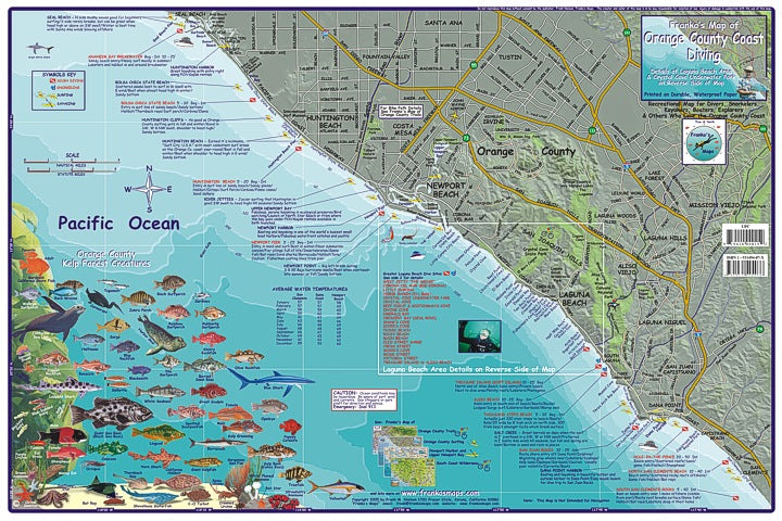 Orange County Dive Map