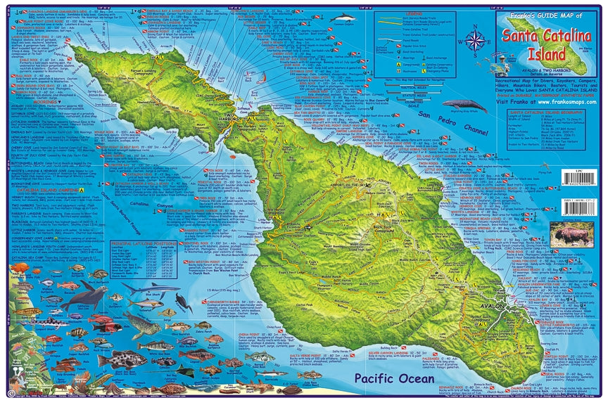 Catalina Island Dive Map