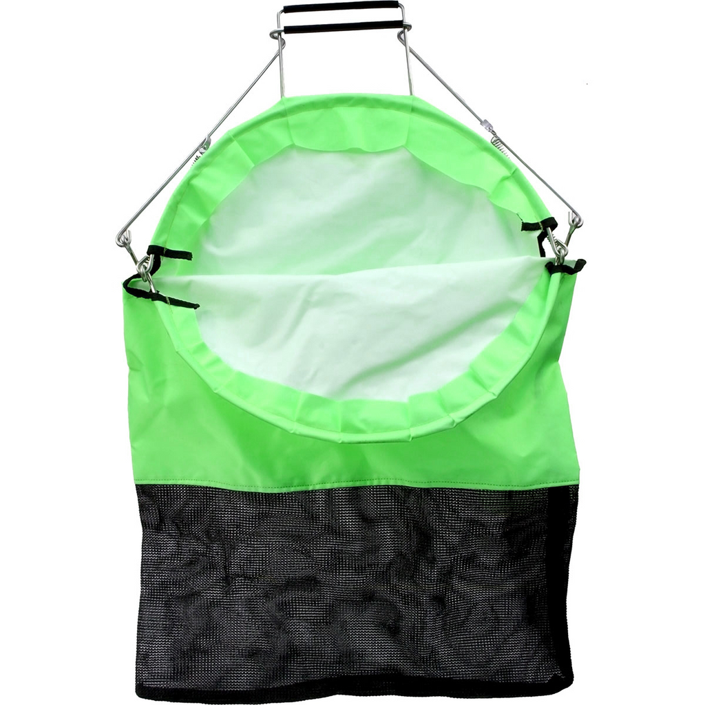 Trident One Hand Squeeze Lobster Bag with D-Ring - Green