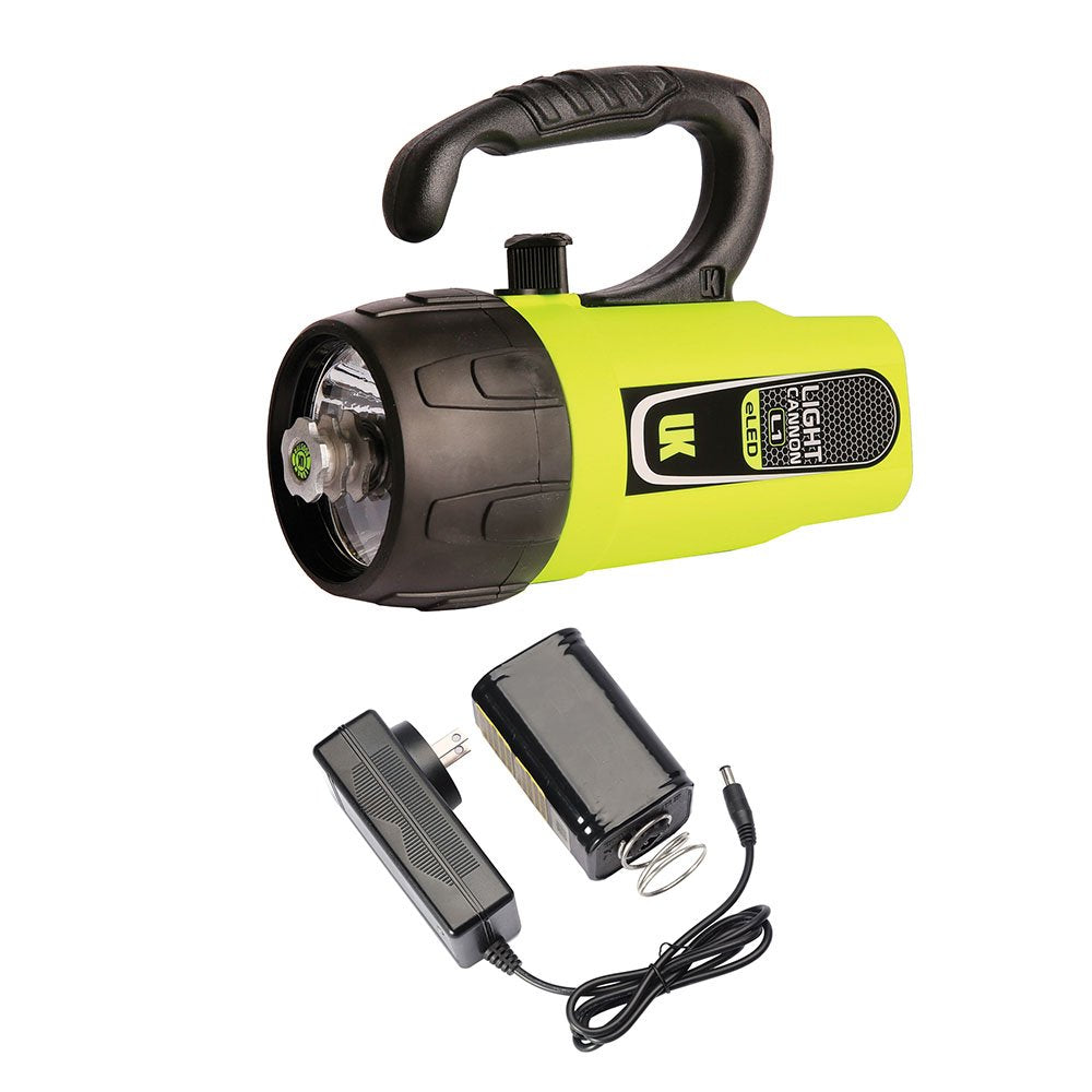 UK Light Cannon eLED (L1) w/ NiMH Battery/Charger | Lantern Grip | Saftey Yellow
