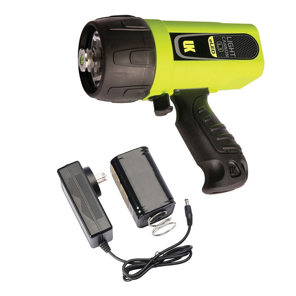 UK Light Cannon eLED (L1) w/ NiMH Battery/Charger | Pistol Grip | Safety Yellow
