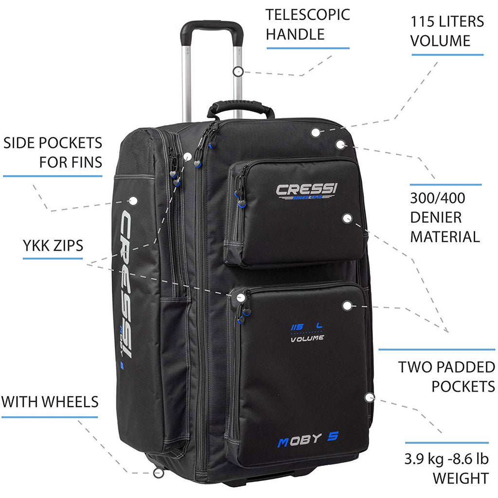 Cressi Moby 5 Bag with Wheels