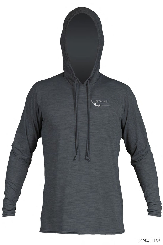 Lost Winds Tech Hoodie - Charcoal