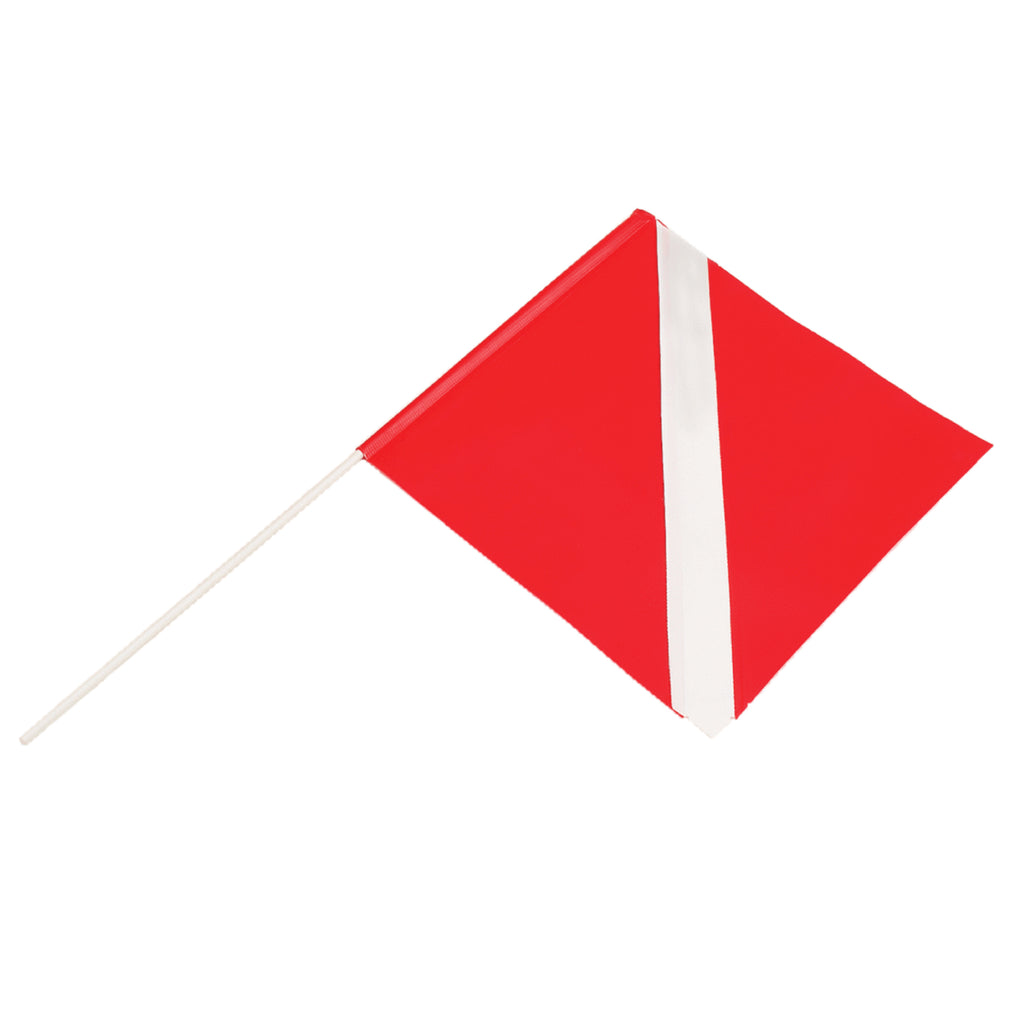 Riffe Torpedo Float Dive Flag With Pole