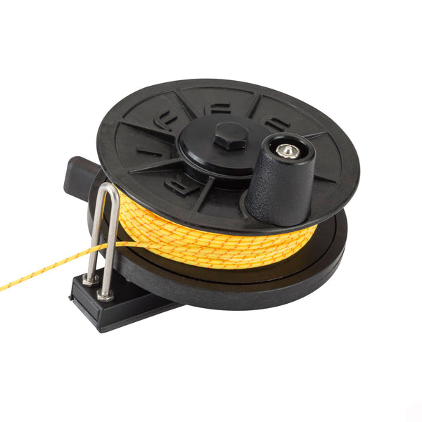 Riffe Low-Pro Horizontal Reel Flat Mount With Line
