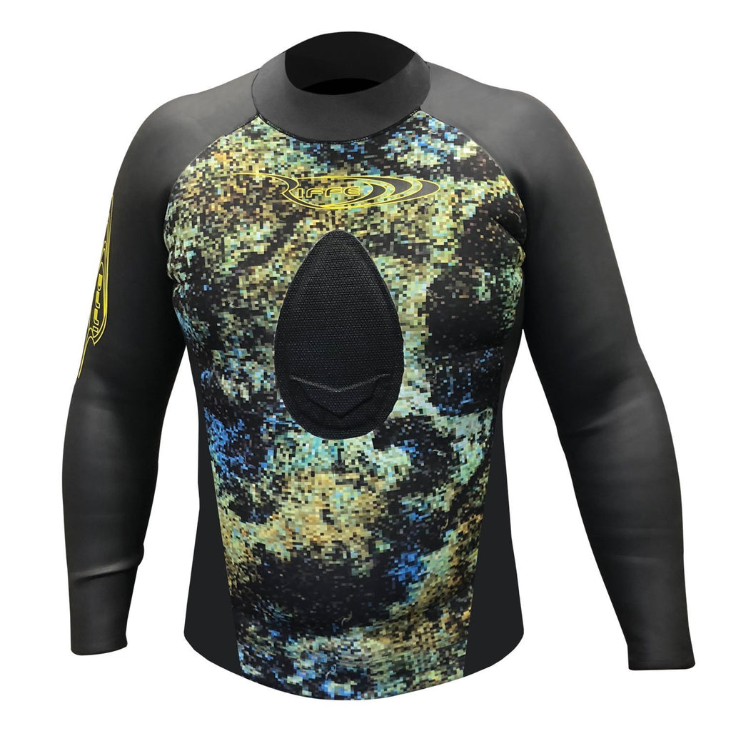 Riffe 3.5 Non Hooded Smooth Skin / Neoprene Wetsuit Top