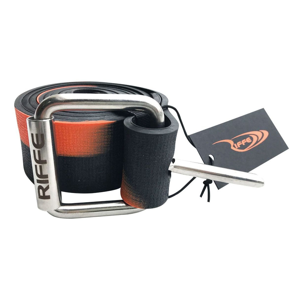Riffe Marseilles Rubber Weight Belt w/ SS Buckle | Black / Orange