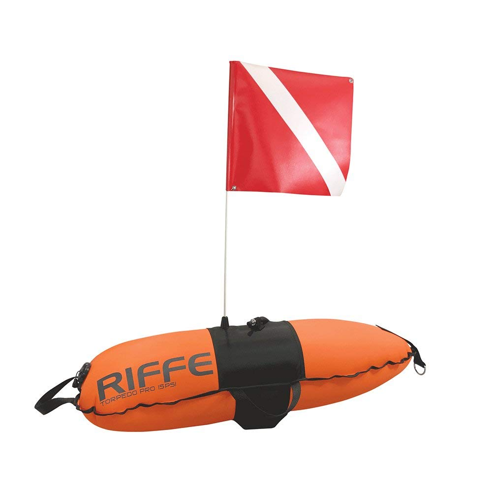 Riffe Torpedo Pro Dive Float with Flag