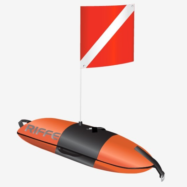 Riffe Torpedo Pro Dive Float w/Flag