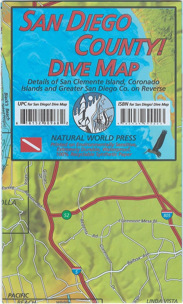 San Diego County Waterproof Dive Map