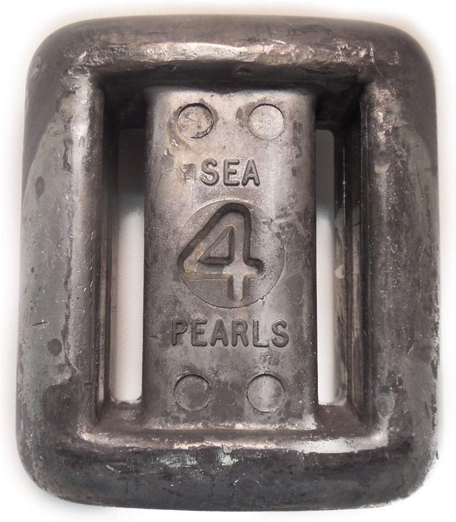 Sea Pearls Uncoated Lace-Thru Lead Weights -4 LB