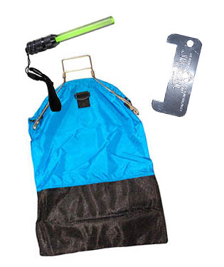 Trident One Hand Squeeze Lobster Bag Kit with D-Ring - Blue