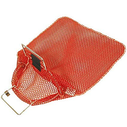 Trident Galvanized Wire Handle Mesh Bag - Red