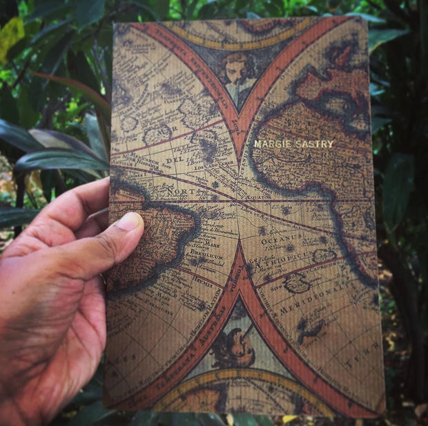Vintage Map Ruled Notebook