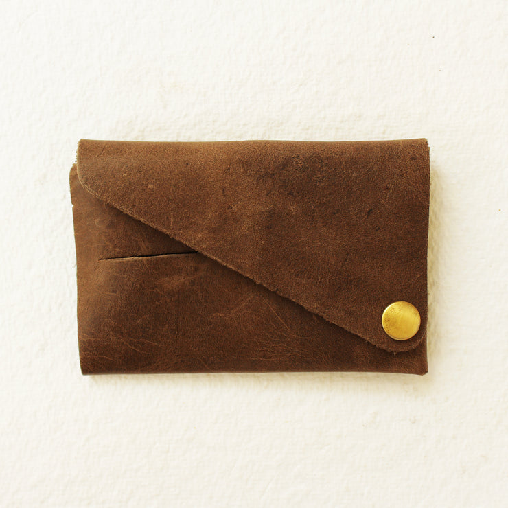 Kaagazi Abridged Wallet: Brown - Kaagazi Collaborative
