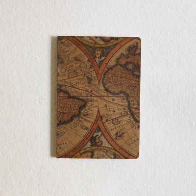 Vintage Map Ruled Notebook - Kaagazi Collaborative