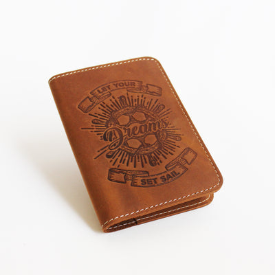 Tan Orange Passport Cover