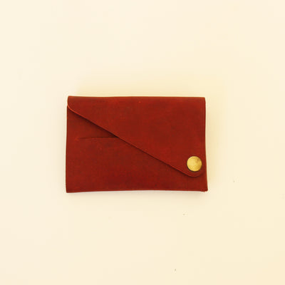 Kaagazi Abridged Wallet: Deep Red