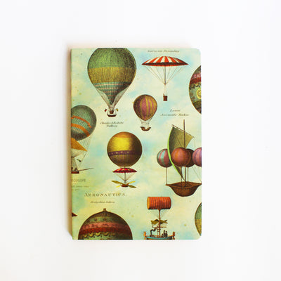 Hot Air Balloons Ruled Notebook