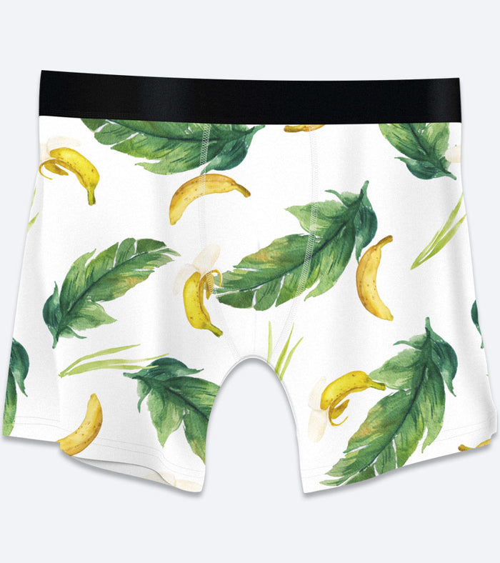 Tropical, Bananas, Parrots Boxer Briefs 3-Pack