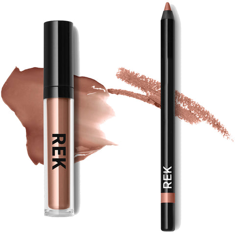 Liquid Lipstick Blushing Bride Lip Kit - REK Cosmetics