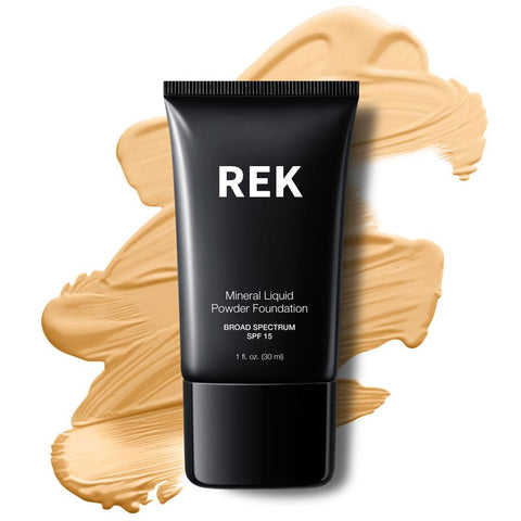 Mineral Liquid Powder Foundation with SPF 15 - REK Cosmetics