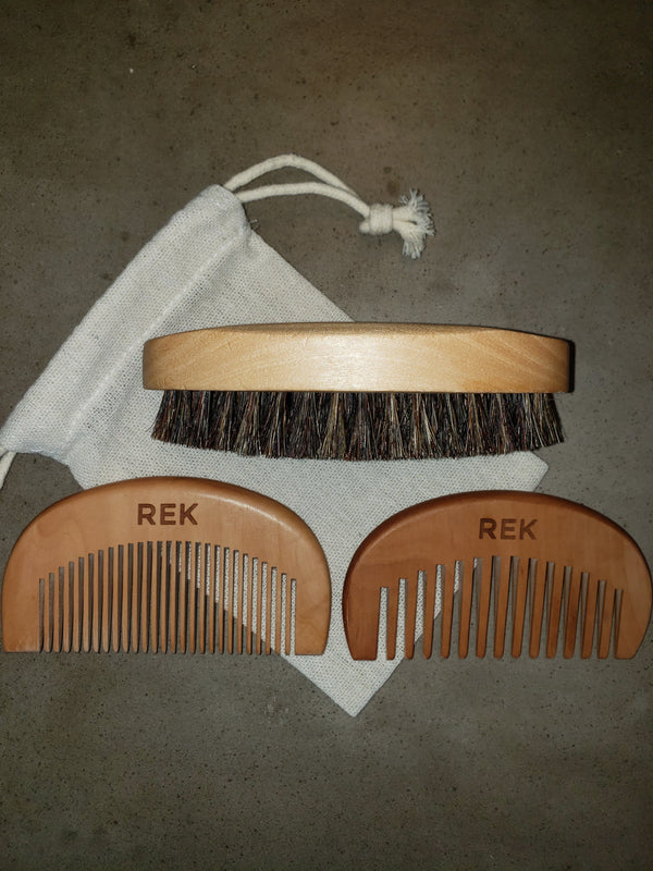 REK Beard Brush and Comb Kit - REK Cosmetics