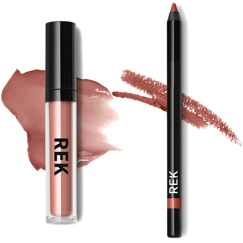 Liquid Lipstick Mink Pink Lip Kit - REK Cosmetics