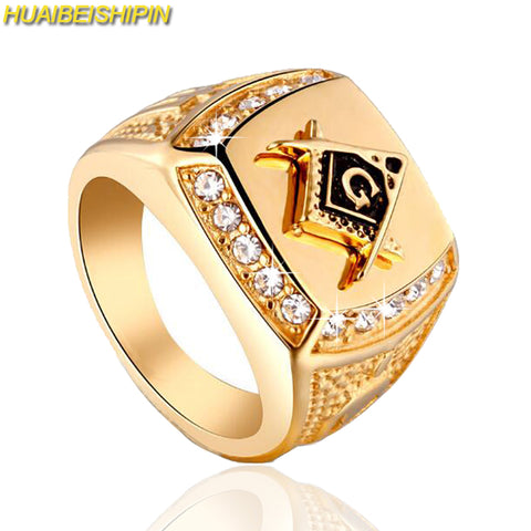 Iced Freemason Ring