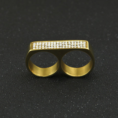Iced Twin Ring