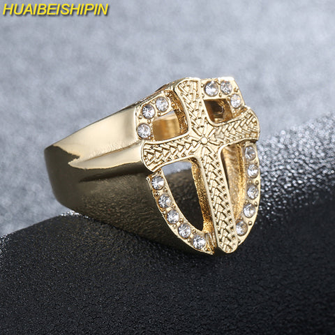 Iced Cross Ring