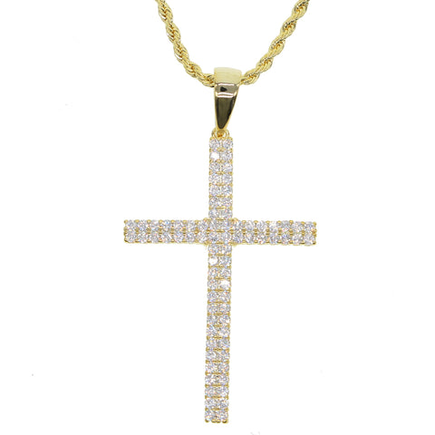 Iced Classic Cross Rope Chain