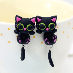 Handmade Cat Earrings