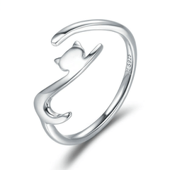 Hanging Cat Ring