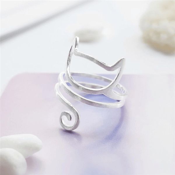 Spiral Cat Ring - AnimalsLuxury