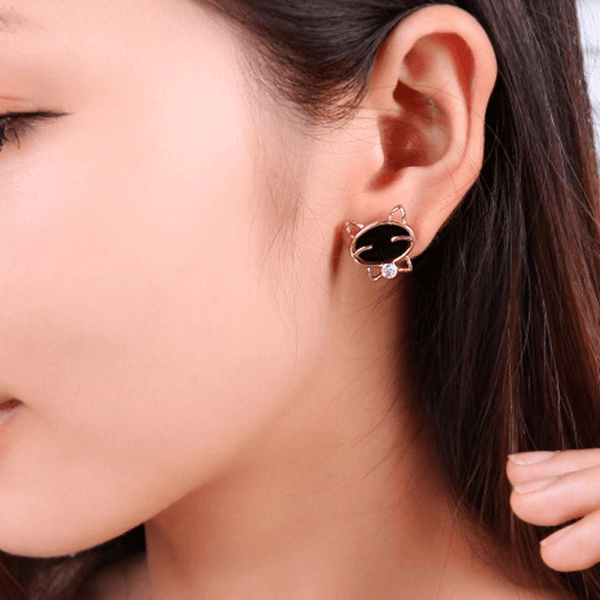 Stud Cat Earrings - AnimalsLuxury