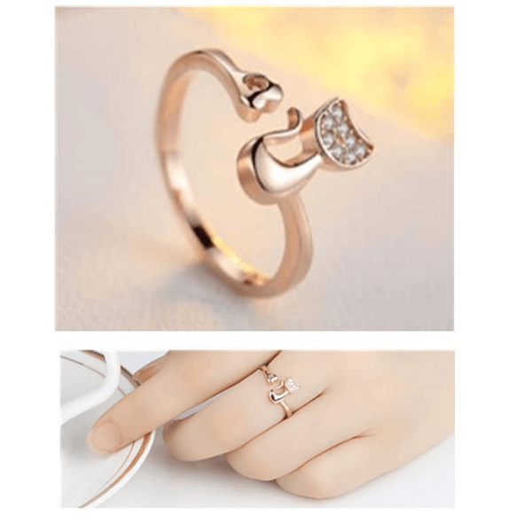 Cat Ring With Cat Shape - AnimalsLuxury
