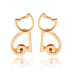 Cat Shaped Cat Earrings
