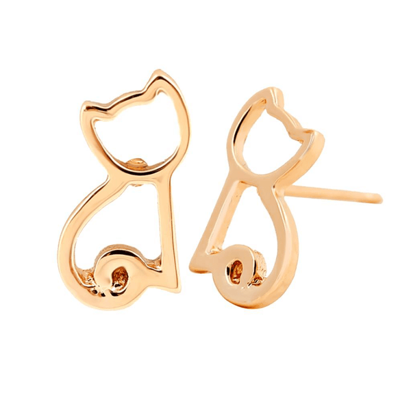 Cat Shaped Cat Earrings - AnimalsLuxury