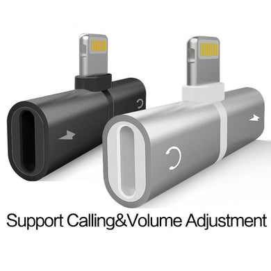 Adaptateur chargeur iPhone 7 8Plus X 2 in 1