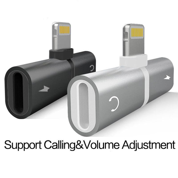 Adaptateur chargeur iPhone 7 8Plus X 2 in 1 - At-Home Group