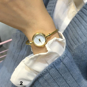 Fashion Women Montre De Luxe  En Acier Inoxydable  Montre-Bracelet Femme Horloge À Quartz - At-Home Group
