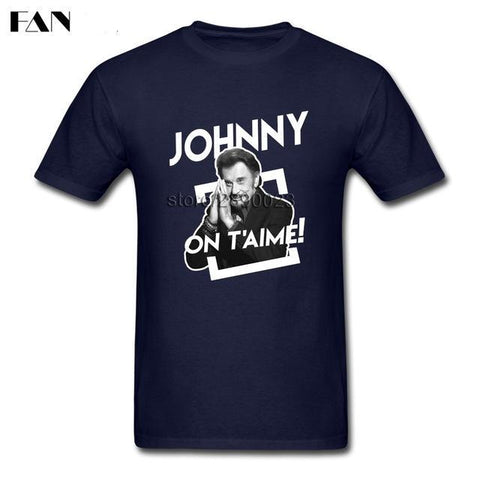 "T Shirt Manches courtes ""Johnny On t'aime"". Livraison offerte - At-Home Group"