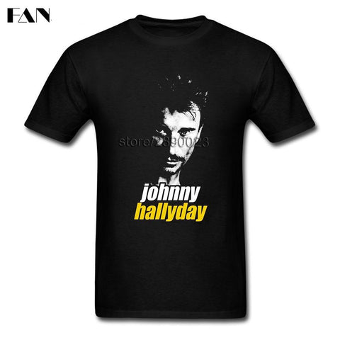 T-shirt Manches Courtes imprimé Rock Star Johnny Hallyday livraison offerte - At-Home Group
