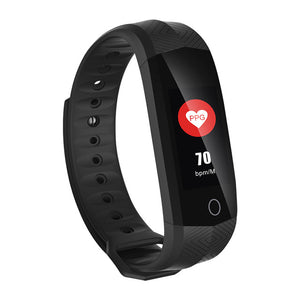 Montre Smart Cardio fréquence Étanche Fitness Bluetooth Écran Couleur Lcd Sport - At-Home Group